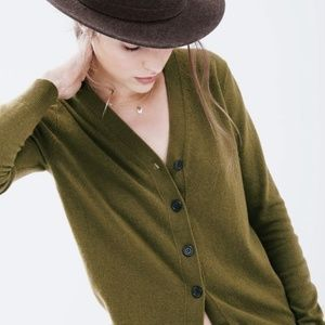J. Crew V-Neck Cardigan Sweater With Cashmere
